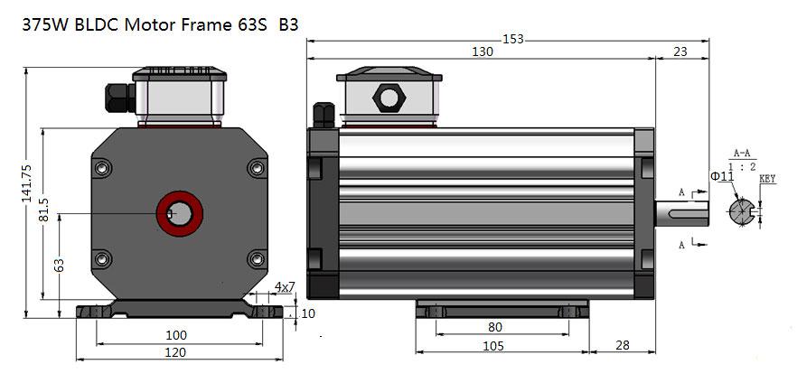 375W BLDC Motor Frame 63S  B3.jpg