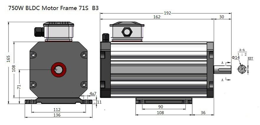 750W BLDC Motor Frame 71S  B3.jpg