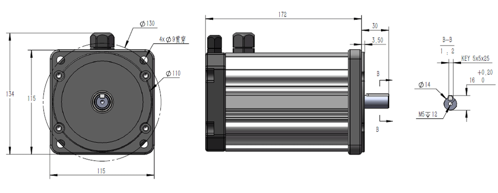 Configuration of 24V 750W 3000RPM Brushless DC Motor.png