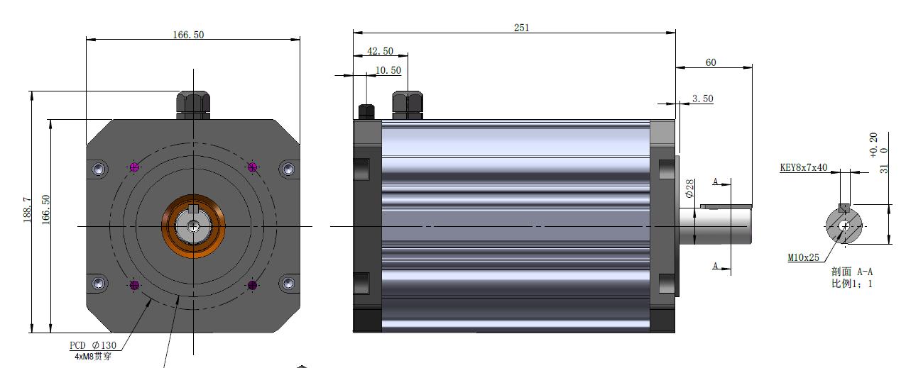 251mm 72V 4KW Hall Sensor BLDC Motor With Controller.png